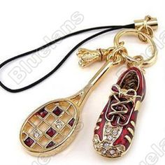 Discount China china wholesale Mini Diamante Shoes Badminton Racket Mobile Phone Chain Pendant 6265 [6265] - US$1.99 : DealsChic
