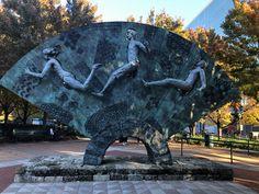 Centennial Olympic Park - A Gem in Atlanta - Vacation Geeks Olympic Sites, Centennial Olympic Park, Swim Meet, Summer Olympics, Geeks, Atlanta, Lion Sculpture, Geek Stuff, Swimming