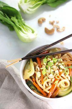 Bok Choy Udon Noodle