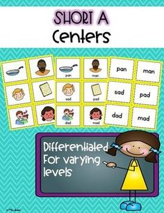 Short A centers. Differentiated for varying levels.