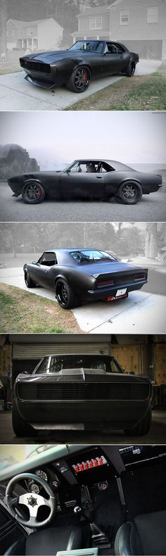 1967 Vengeance Streetfighter Camaro is What the Batmobile Would Look Like as a M. 1967 Vengeance Streetfighter Camaro ist, wie das Batmobil als M - Fikret - # Chevrolet Camaro, Corvette, Chevy, 1967 Camaro, Sweet Cars, Batmobile, American Muscle Cars, Amazing Cars, Awesome