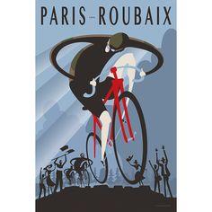 Paris Roubaix 1896_Cycling Art