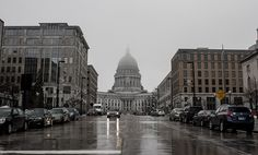 Rain in Downtown Madison WI. March 10th, 2013