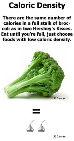 Caloric Density- you can eat until your full and not go over calories or you can still be hungry while going over calories.  It just depends what you eat.