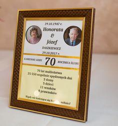 Pamiątka 70 rocznica ślubu
