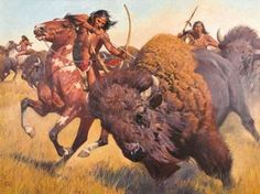 View Buffalo hunt by David Mann on artnet. Browse upcoming and past auction lots by David Mann. Native American Hunting, Native American Warrior, Native American History, Native American Pictures, Native American Artwork, American Indian Art, American Indians, Buffalo Pictures, David Mann Art