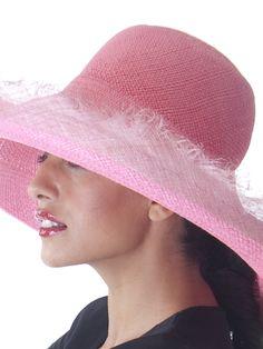Pink Panama Sun Hat