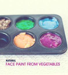 Make all-natural face paint from fruits and vegetables.