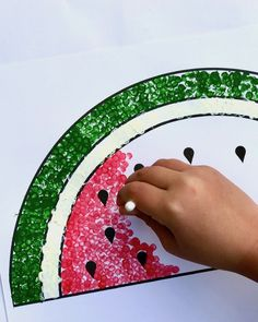 How to Paint a Watermelon with Cotton Buds – Make Film Play
