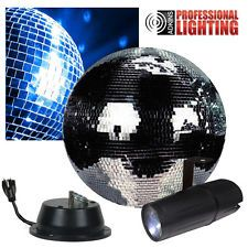 """NEW 12"""" Disco Mirror Ball Complete Party Kit with LED Pinspot and Motor - Adkins"""