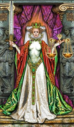 Justice  tarot illuminati