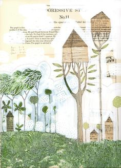10/50...the tree houses...a 12 x 18 limited edition ARCHIVAL PRINT