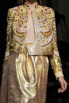 Heavy Golden embellishments @ Manish Arora Spring 2013  Paris Fashion Week #PFW