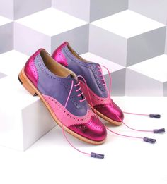ABO violet and pink brogues