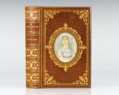 Jane Austen: Her Life and Letters: A Family Record; Bound in full morocco by Bayntun/Riviere in Cosway-Style binding with an inset miniature portrait of Jane Austen.