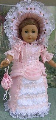 MID 1800'S 6 PIECE GARDEN PARTY DRESS MADE FOR AMERICAN GIRL FELICITY, ELIZABETH   #461804529