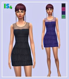 Irida Sims 4: Dress 51_IS • Sims 4 Downloads