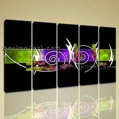 "Large 5 Panels Modern Abstract Painting Hd Print On Canvas Wall Art Home Decor, Large Abstract Wall Art, Dining Room, Onion. Large 5 Panels Modern Abstract Painting Hd Print On Canvas Wall Art Home Decor Subject : Abstract Style : Contemporary Panels : 5 Detail Size : 10""x32""x5 Overall Size : 54""x32"" = 137cm x 81cm Medium : Giclee Print On Canvas Condition : Brand New Frames : Gallery wrapped [FEATURES] Lightweight and easy to hang. High revolution giclee artwork/photograph. Edges are…"