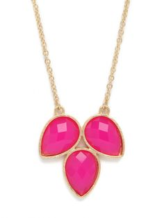 this pink triple clover pendant is the perfect pop of color