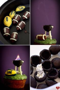 BBQ Football Cupcake - Beer Spice Cupcake Recipe