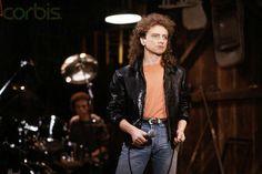 15.01.1987, Lou Gramm in Black Leather Coat, Lokalizacja:Norwalk, California, USA photo Henry Diltz