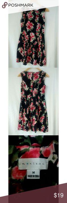 """Monteau floral flare skater dress Excellent used condition. 100% cotton Bust 16"""" length 32.5"""" Monteau Dresses Mini"""
