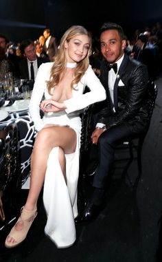 Gigi Hadid & Lewis Hamilton from The Big Picture: Today's Hot Pics Models, Formula One stars... the 22nd annual amFAR Gala at the Hotel du Cap Eden Roc had it all!