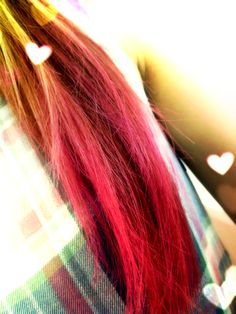my hair color is PINK♡