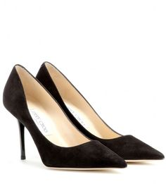 Jimmy Choo Agnes suede pumps on shopstyle.com