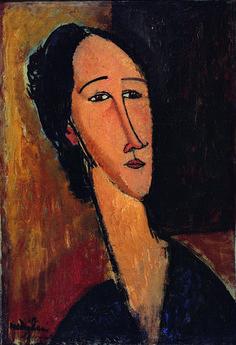 Amedeo Modigliani Testa di Hanka Sborowska, 1917 Olio su tela, 54 x 37,3 x 8 cm Collezione privata