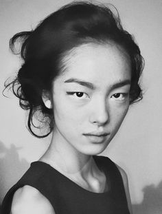 Fei Fei Sun backstage at Marni