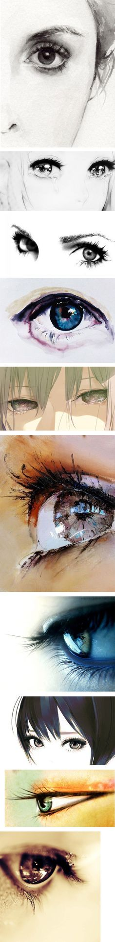 【设计/插画】漂亮的手绘眼睛