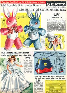 Easter toy ad, 1954.