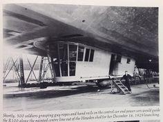 R 100 British airship. 1929