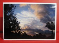 Handmade Card Any Occasion - Photo of a Sunset
