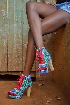 Queen of the Village: Heels by Buqisi-Ruux   African Prints in Fashion