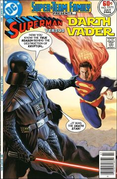 Family: The Lost Issues!: Superman and Darth VaderSuper-Team Family: The Lost Issues!: Superman and Darth Vader Dc Comics, Star Wars Comics, Comic Book Characters, Comic Character, Comic Books Art, Comic Art, Fictional Characters, Crossover, Caim E Abel