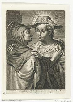 Schelte Adamsz. Bolswert | Visitatie, Schelte Adamsz. Bolswert, Peter Paul Rubens, Cornelis Galle (II), 1596 - 1678 |