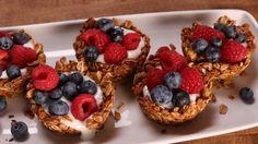 Granola Cups with Yogurt and Fruit