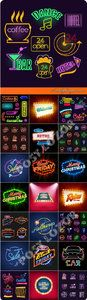 Neon light sign vector Full and FREE Download