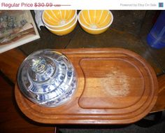 ON SALE NOW European Cheese tray with glass dome by EMTWTT on Etsy, $27.89