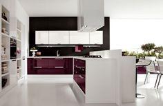 Charming Grey Modern Furniture : Modern Unique Purple Bedroom Decor