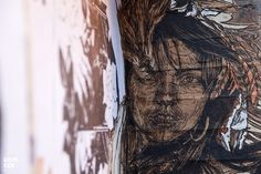 New York street artist Swoon visits London and installs some beautiful new hand coloured pasteups in London. London Street, New York Street, Art Sites, Street Artists, Hand Coloring, Artwork, Group, Beautiful, Board