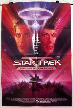 STAR TREK V: THE FINAL FRONTIER - ORIGINAL USA ADVANCE ONE SHEET MOVIE POSTER
