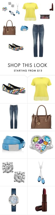 """""""Untitled #912"""" by denaye-mo ❤ liked on Polyvore featuring Salvatore Ferragamo, M&Co, Silver Jeans Co., Furla, Prada, Citizen and Fashion Fair"""