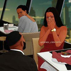 Black Couple Art, Black Love Art, Black Girl Art, Black Art Painting, Black Artwork, Black Couples Goals, Couples In Love, Couple Goals, Black Girl Cartoon