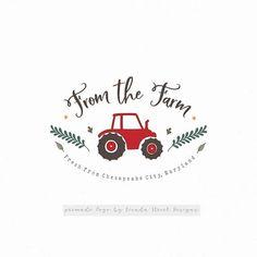 Farm Logo-Tractor Logo-Ranch Logo-Premade Logo-Branding Tractor Logo, Chesapeake City, Small Business Management, Logo Branding, Logos, Farm Logo, Card Companies, Business Names, Round Stickers