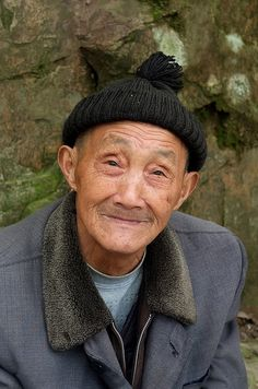 Old and wise Chinese man