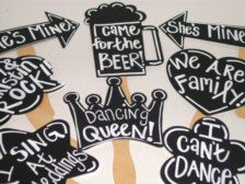 Photo Booth Props & Signs - Wedding Decorations - Etsy