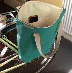 Vélo sacoche fourre-tout sac & à bandoulière toile cirée